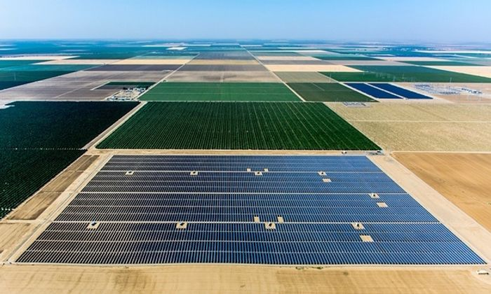 Westlands solar park in California's Central Valley