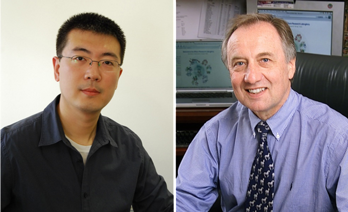 Jiang Zhu (left) and Ian Wilson are principal investigators at The Scripps Research Institute.
