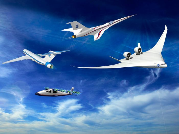 Several of NASA's X-Plane concepts.