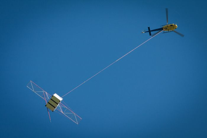 The ESA is using helicopters to test a radar system that will be used on a probe made for exploring Jupiter's moons.