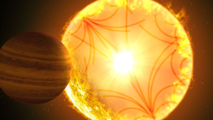 An artist's impression of Kepler-1685 b and its host star.