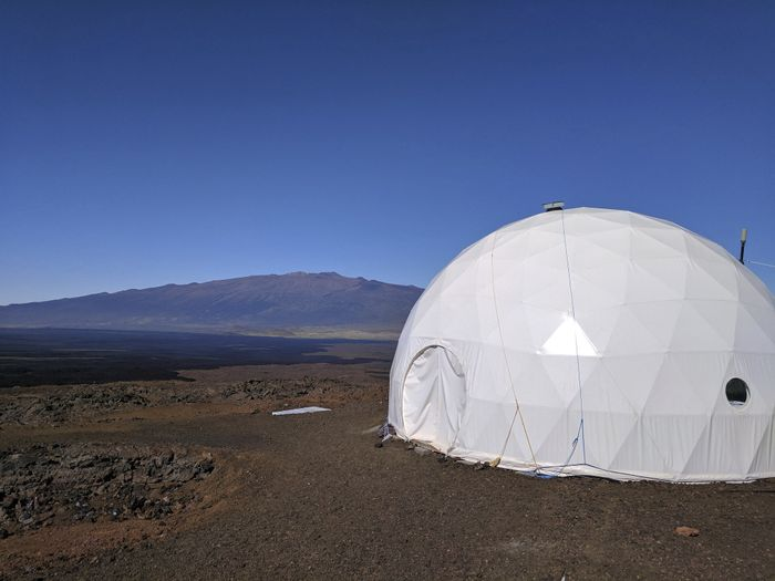 The experimental dome looks and feels just like a scientific base on Mars would.
