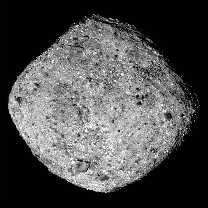 An image of Bennu, captured by OSIRIS-REx from just 50 miles away.
