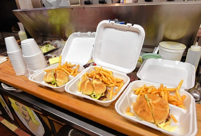 Take out containers create huge amounts of waste. Photo: Greenfield Recorder