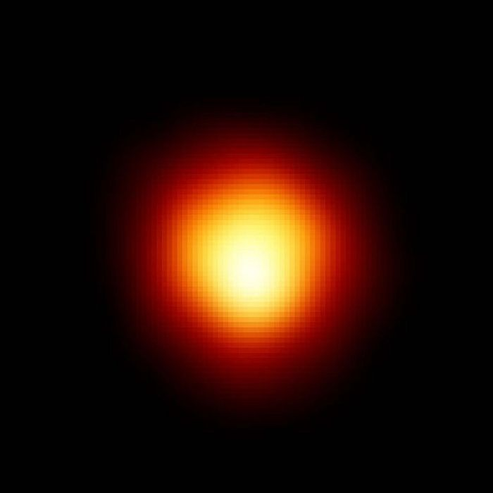 An image of Betelgeuse captured with a space telescope.