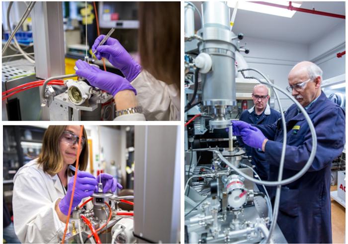 CNL staffs working on molten salt and other advanced reactor fuel (Image Credit: CNL)