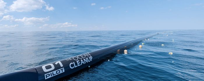 System 001. Photo: The Ocean Cleanup