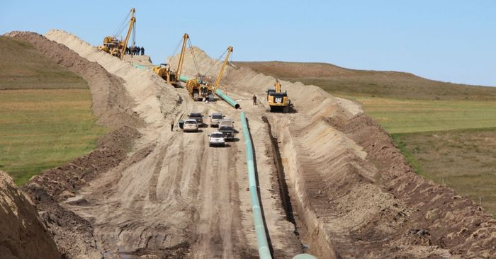 Construction of DAPL went ahead after the Trump Administration issued permits, despite protests. Photo: Common Dreams