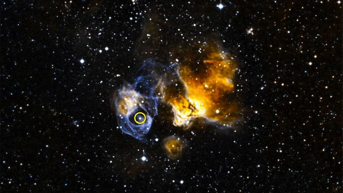 A special system named LMC P3 is the first discovered outside of our galaxy that emits gamma rays.