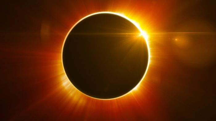 An artist's rendition of a solar eclipse.