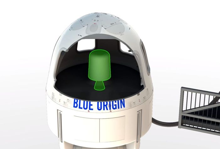 Blue Origin's New Shepard rocket's payload has a small motor that can get it away from the booster rocket for safe landing in emergencies.