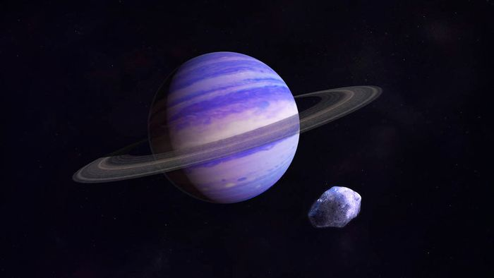 An artist's impression of a Neptune-like exoplanet.