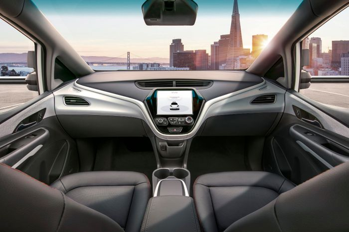 GM's car without a steering wheel, credit: GM