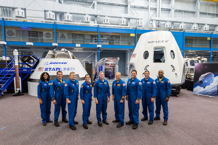 These are the nine men and women NASA selected for the first crewed commercial space missions to be hosted by Boeing and SpaceX.