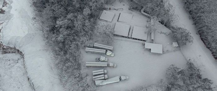 From above, looking down on the damage from the pyroclastic flow. Photo: ABC News - Go.com