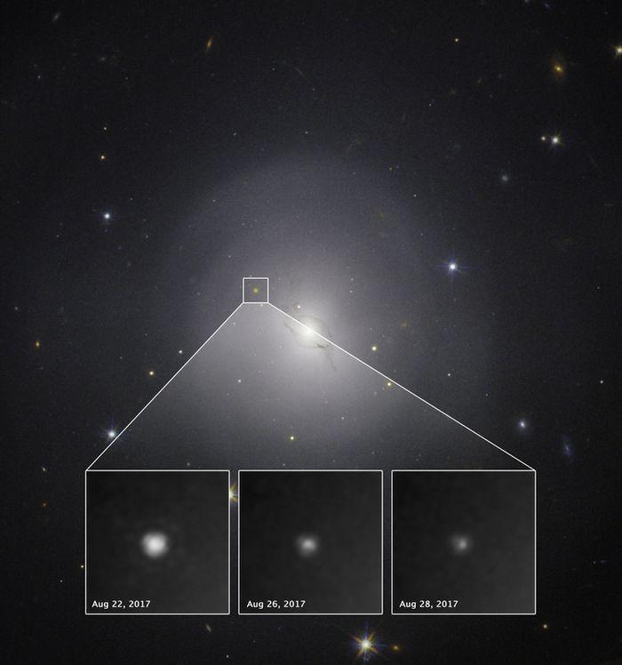 The fading gamma ray from GRB 170817 (NASA/ESA)