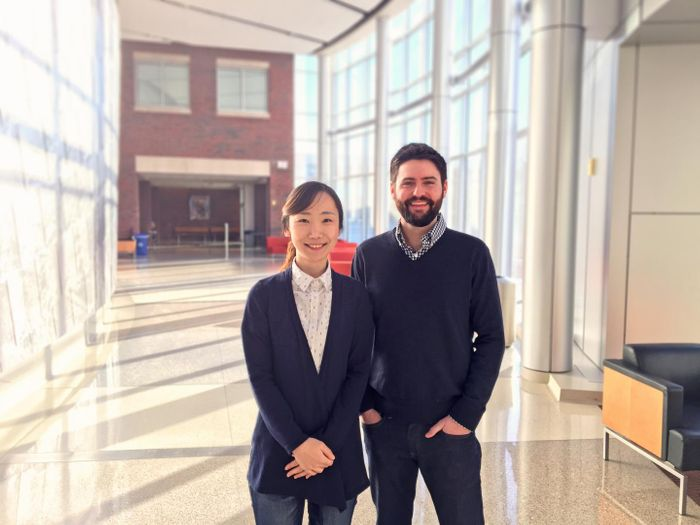Jiyoon Lee, PhD, and Karl Koehler, PhD. / Credit: Indiana University School of Medicine