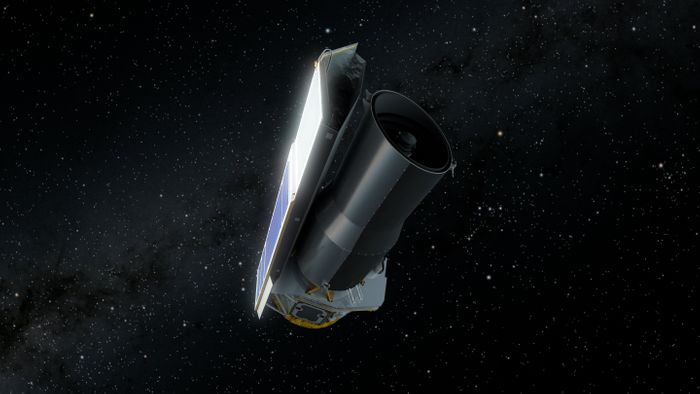 An artist's rendition of the Spitzer Space Telescope.