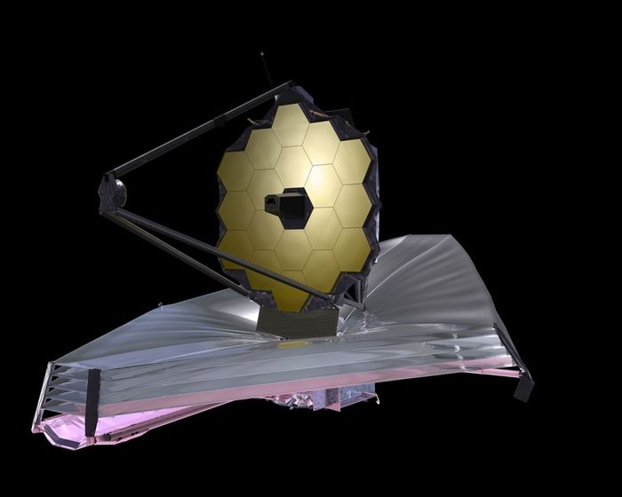 An artist's rendition of the James Webb Space Telescope.