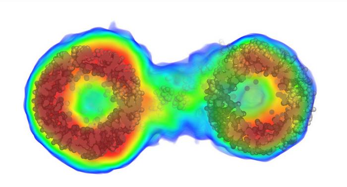 An image of a biomolecule. Credit: UB/Nature Method