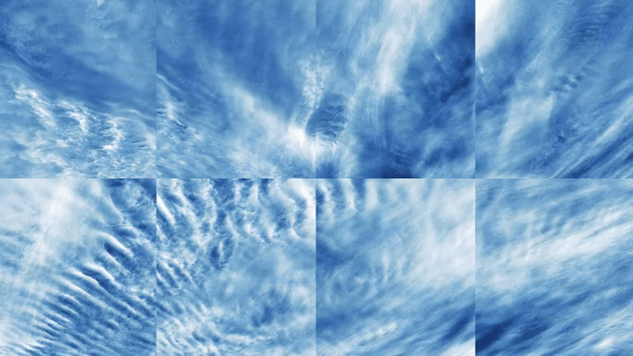 Electric blue clouds high up in the sky over Earth's arctic area (NASA Goddard Space Flight Center)