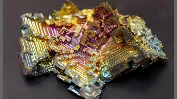 A bismuth mineral specimen (University of Delaware)