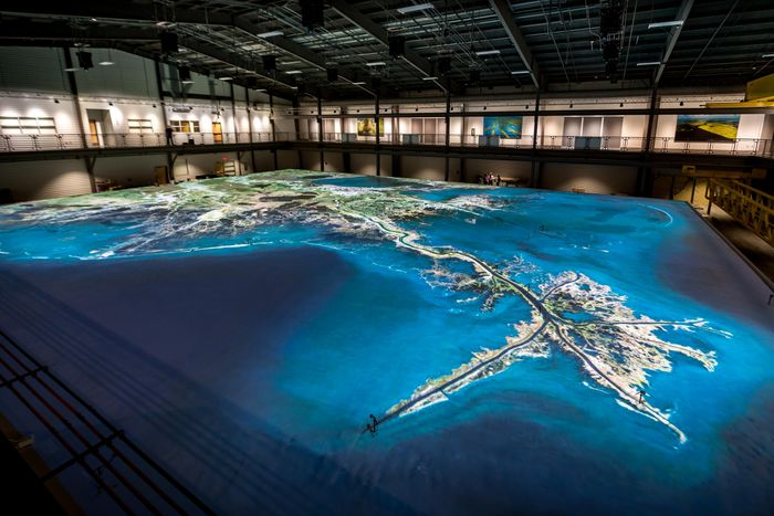 LSU's model of the Mississippi delta. Photo: WWNO