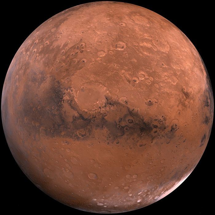 A close-up of the Martian surface.