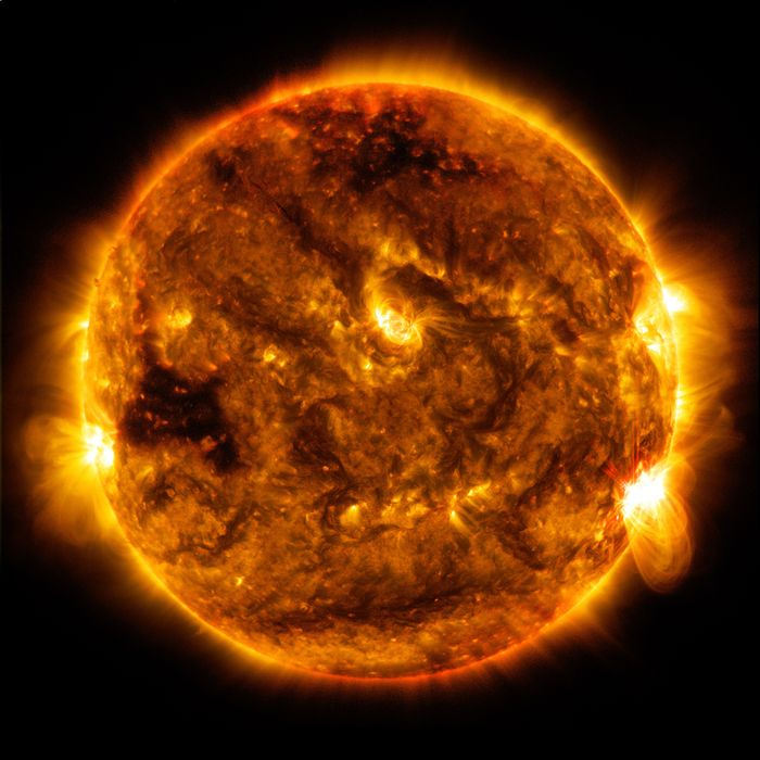 The Sun as seen from NASA's Solar Dynamics Observatory (SDO).