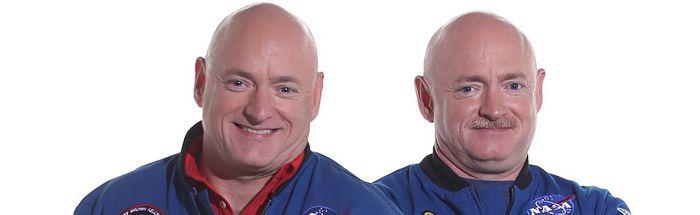 Scott Kelly (left) and Mark Kelly (right).