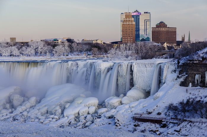 Frozen Niagara Falls. Photo: NOAA