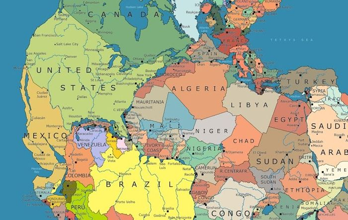 Much is still unknown about Pangaea's dismantling. Photo: Visual News