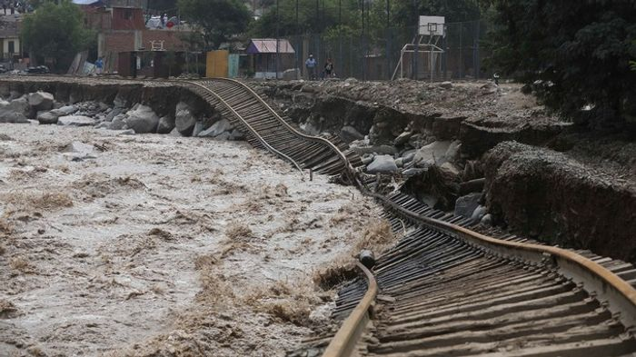 The rains are taking a toll on infrastructure. Photo: AP