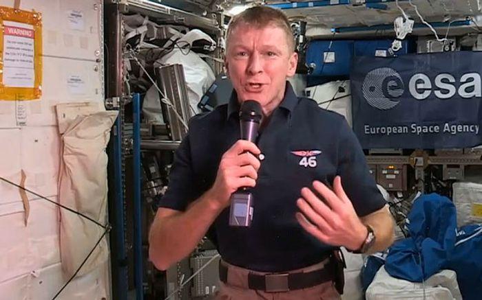Tim Peake aboard the International Space Station.
