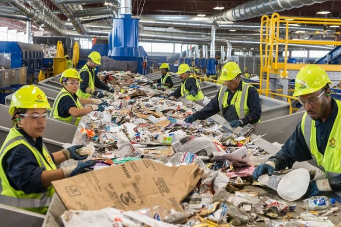 Recycling the wrong items can clog of the system and even damage machinery. Photo: Portco Packaging