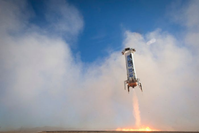 Blue Origin has landed its New Shepard rocket for the third time in a row.