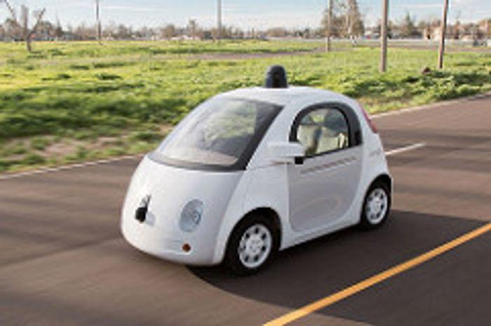Google self-driving car, credit: Marc van der Chijs on Flickr