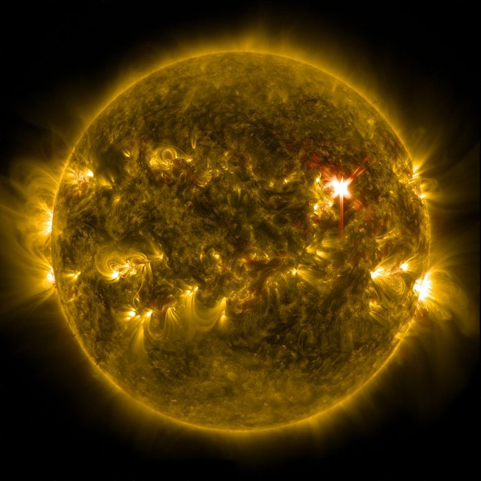 The Sun is a giant glowing sphere of nuclear fusion.
