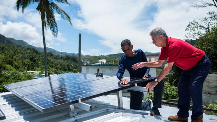 Solar installations in Puerto Rico are on the rise. Photo: NBC Washington