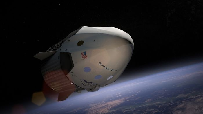 An artist's impression of a SpaceX payload.