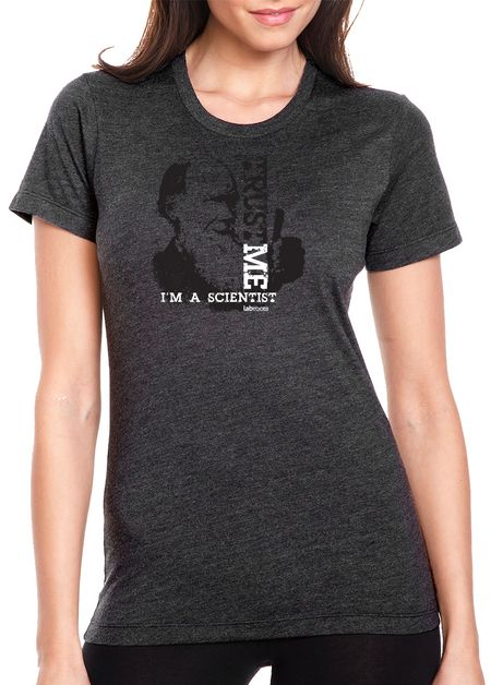 Ladies Printed T-Shirt I/'m A Scientist Trust Me